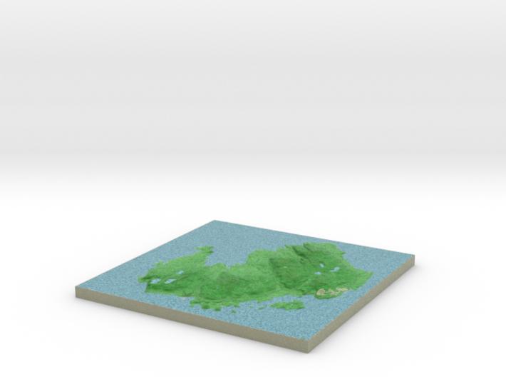 Terrafab generated model Sun Aug 31 2014 21:03:42 3d printed