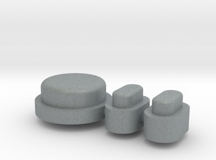 Buttons - Complete Set - Plastics 3d printed