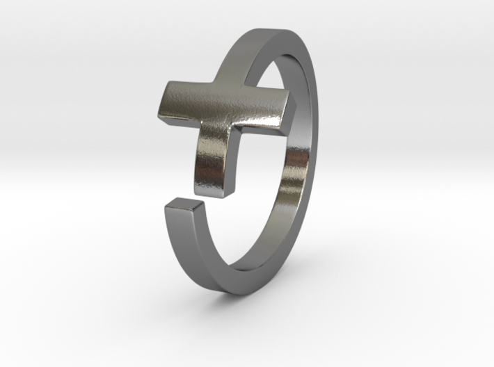 Cross Ring Size 9 3d printed