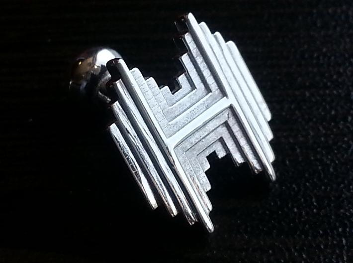 Gothic H cufflinks 3d printed Watch the video below!