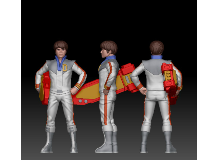 Daniel homage Space Boy 5.44inch Full Color Statue 3d printed Daniel Digital Turnaround by Tecrom Designs