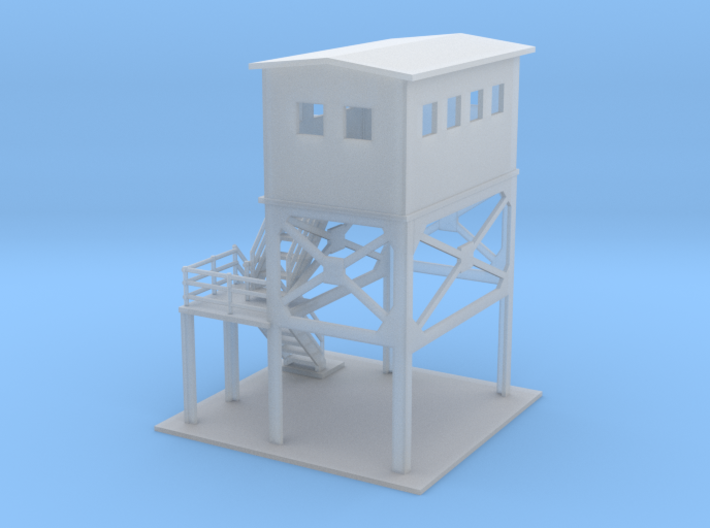Track Side Tower Z Scale 3d printed Switch Tower Z scale
