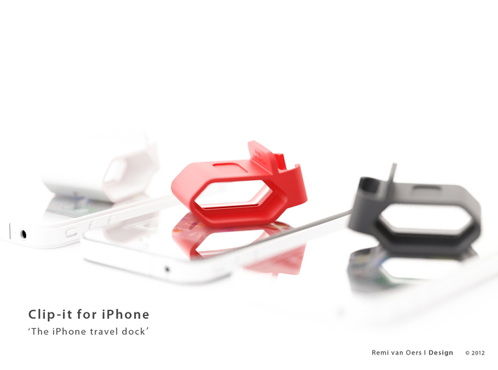 Clip-it - The iPhone travel dock 3d printed