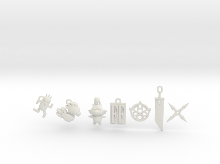 FF Video Game Fantasy Charms 3d printed