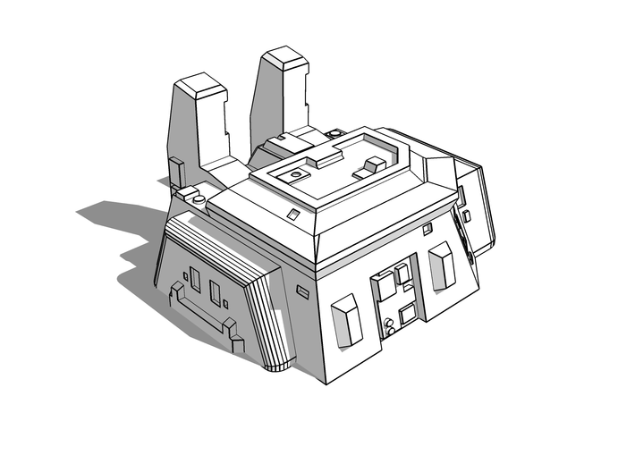 Land Factory [6mm BUILDING] 3d printed