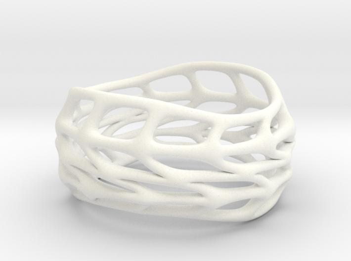 Panel Twist Hollow Ring (Sz 9) 3d printed