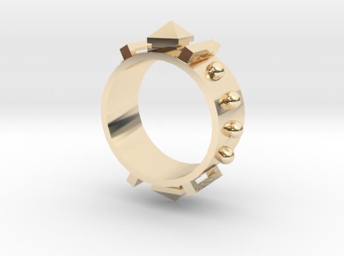 Edwardian Guard III Ring - Sz. 6 3d printed