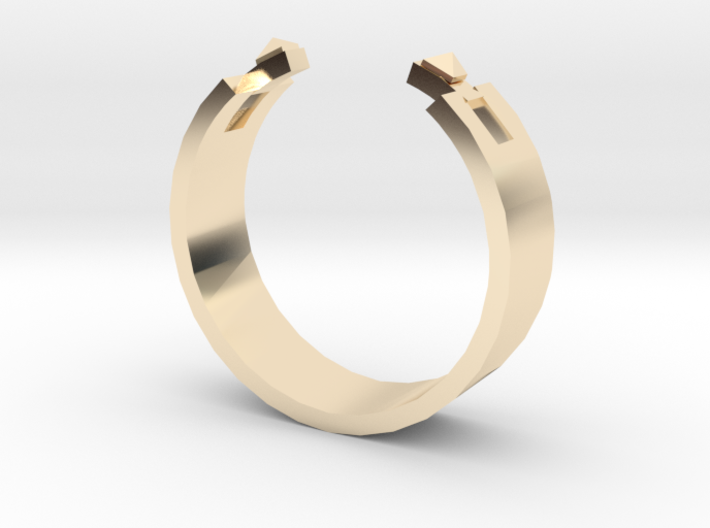Studded Cuff Ring - Sz. 5 3d printed