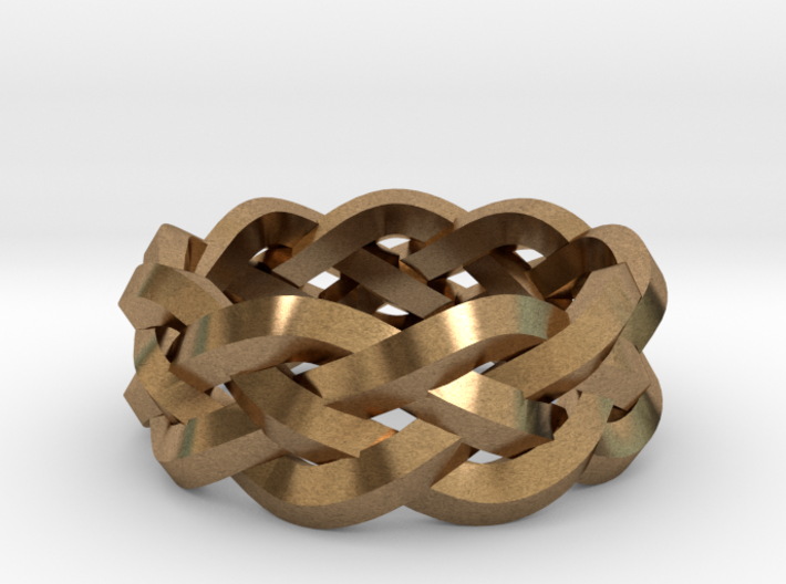 Four-strand Braid Ring 3d printed