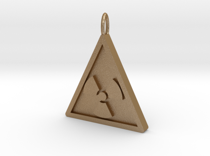 NuclearRadiation Pendant 3d printed