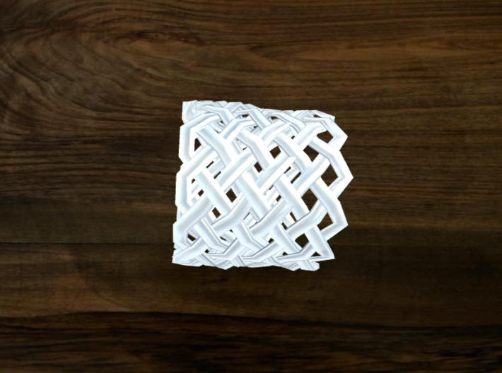 Turk's Head Knot Ring 9 Part X 12 Bight - Size 15. 3d printed