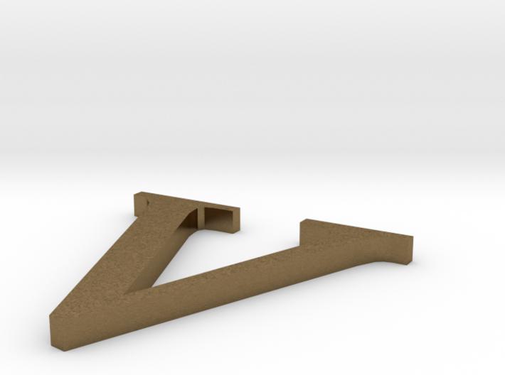 Letter-V 3d printed