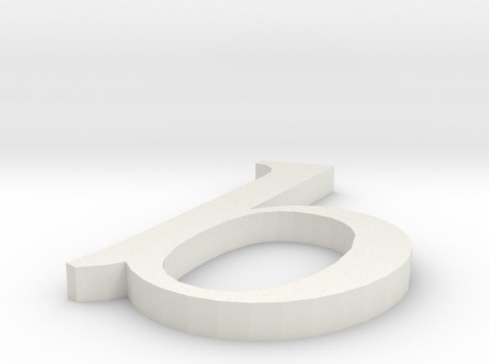 Letter- b 3d printed