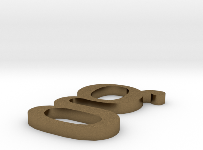Letter- g 3d printed