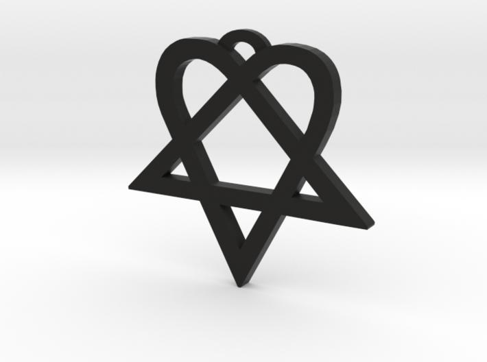 Heartagram (L) 3d printed