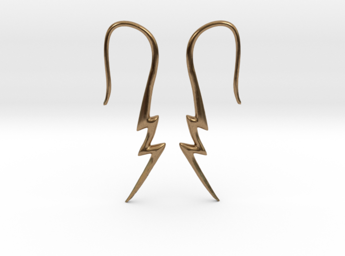 Lightning Bolt Earrings - 16g 3d printed