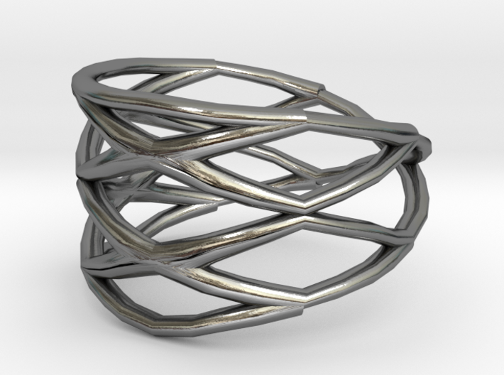 Grid Ring Size 8 3d printed