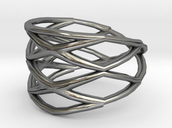 Grid Ring Size 7 3d printed