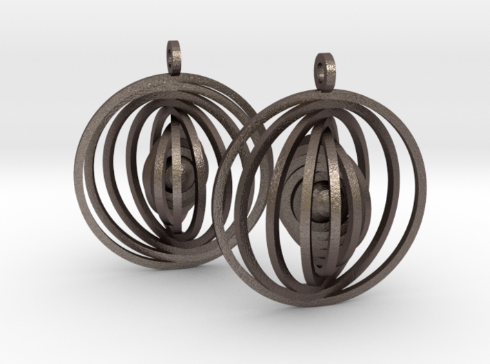 Orbital Earrings 3d printed