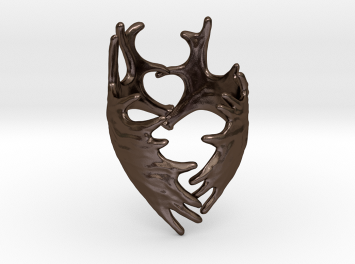 (Size 10) Moose Antler Ring 3d printed
