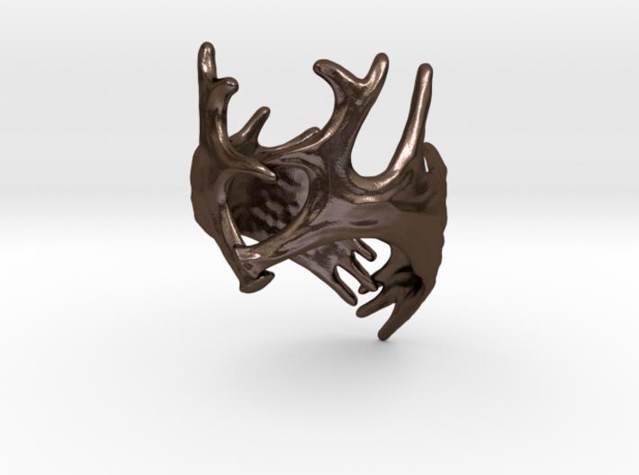 (Size 14) Moose Antler Ring 3d printed
