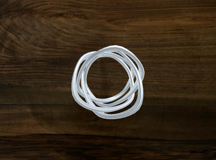 Turk's Head Knot Ring 4 Part X 3 Bight - Size 4 3d printed
