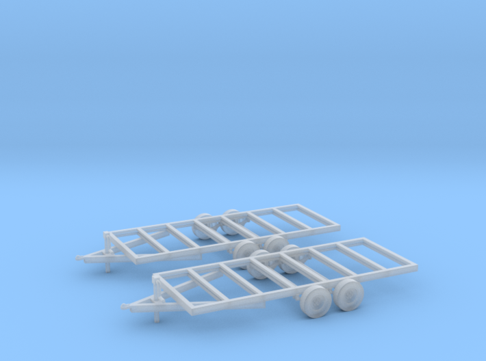 Trailers Frames X2 HO Scale 1/87 3d printed