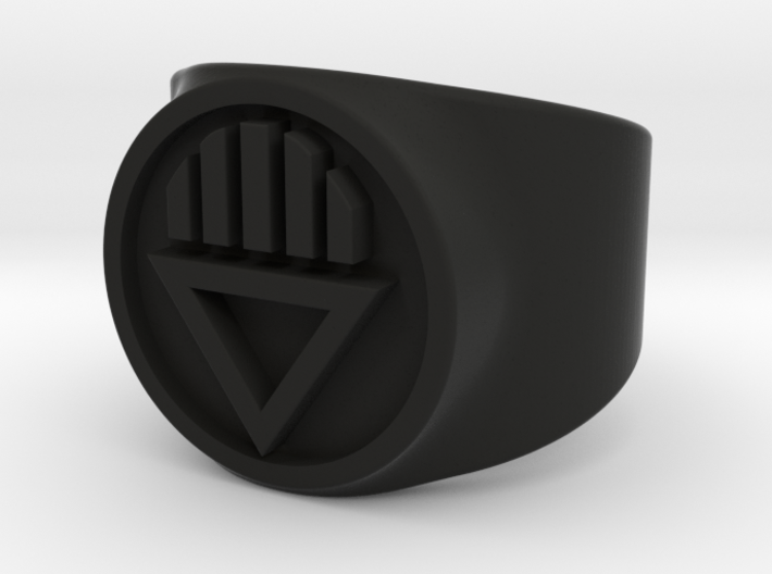 Black Death GL Ring Sz 5 3d printed