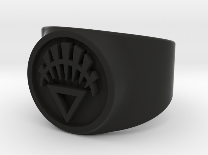 White Life GL Ring Sz 8 3d printed