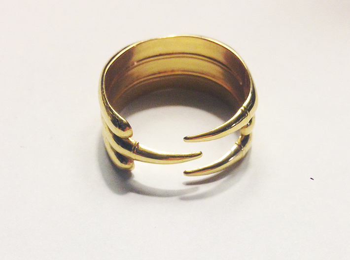 Claw Ring - Sz. 7 3d printed