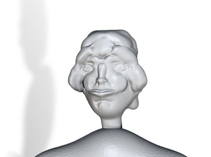 Lady Bust 3d printed