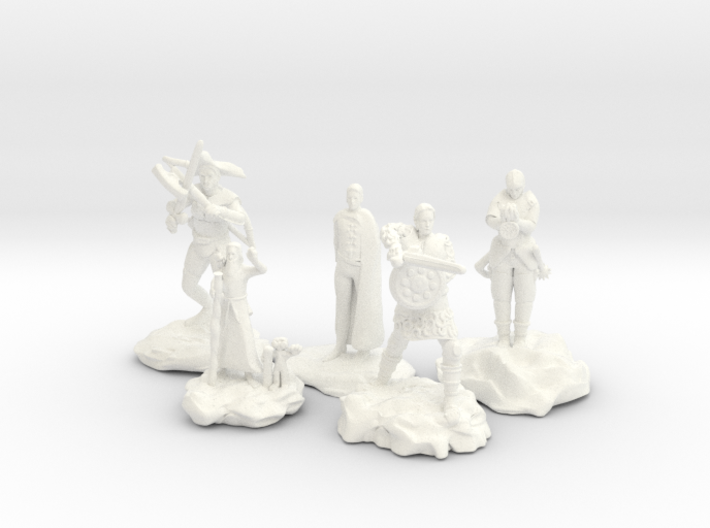 Cleric, Fighter, Rogue, Ranger, and Sorcerer 3d printed