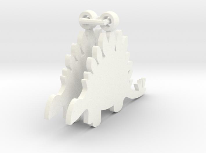 Stegosaurus earrings 3d printed