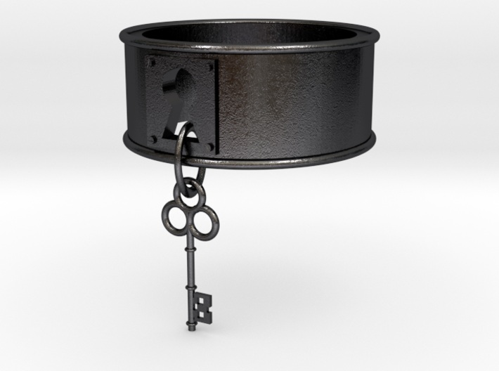 Lock And Key Ring Band size 7 3d printed