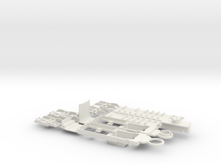 SNCV chassis single end car 3d printed