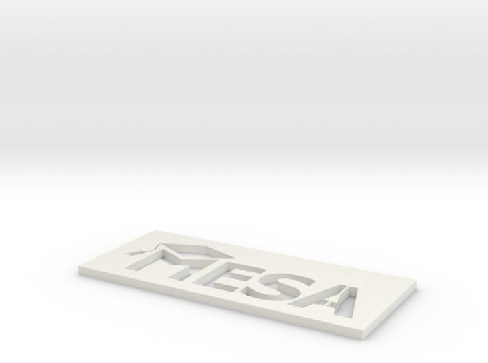 MESA Logo Stencil Medium 3d printed