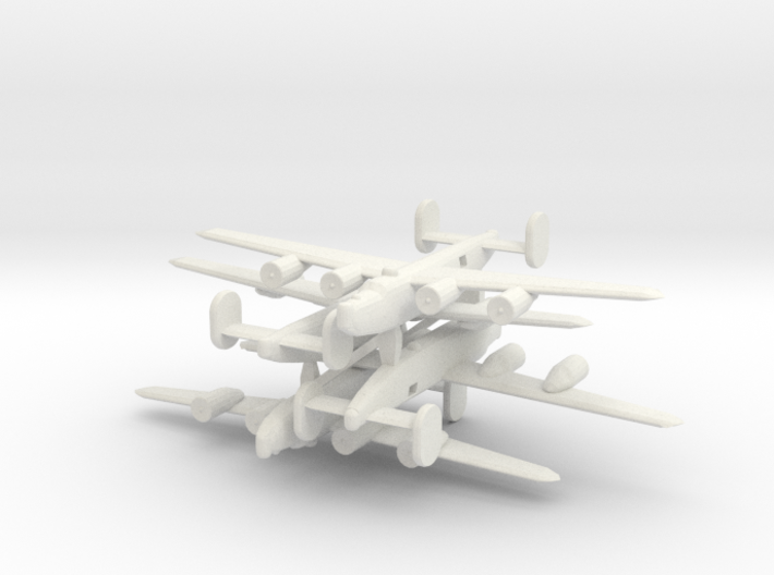 1/600 Consolidated B-24 Liberator 3d printed
