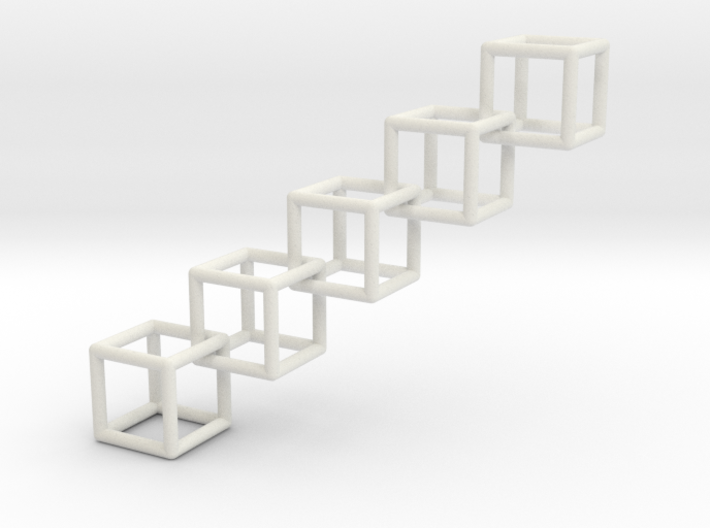 Cubic Chain Pendant 3d printed