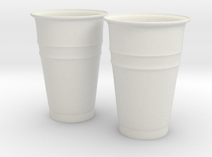 Plastic Cups 3d printed