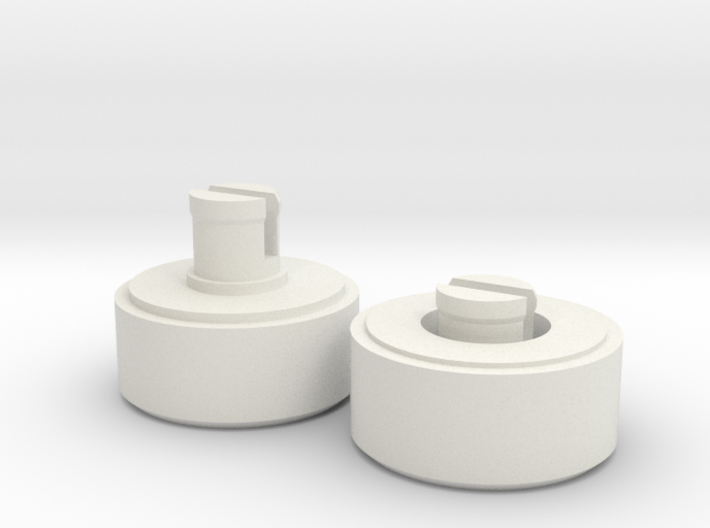 35mm Film to 120 Spool Adapter 3d printed In White Natural Versatile Plastic
