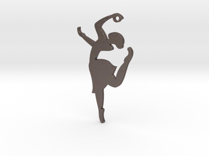 """""""Grace & Poise"""" Ballerina Pendant 3d printed"""