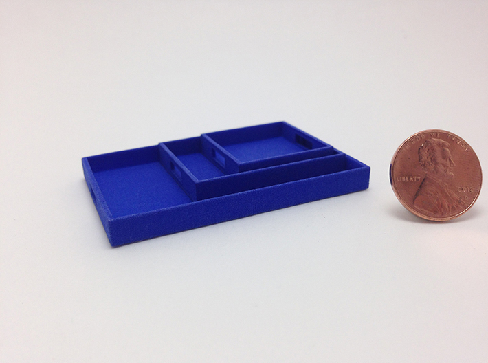 3 Piece Tray Collection 1:12 Scale 3d printed