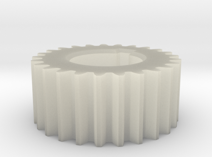 Gear Mn=3 Z=25 Pressure Angle = 20° with keyway 3d printed