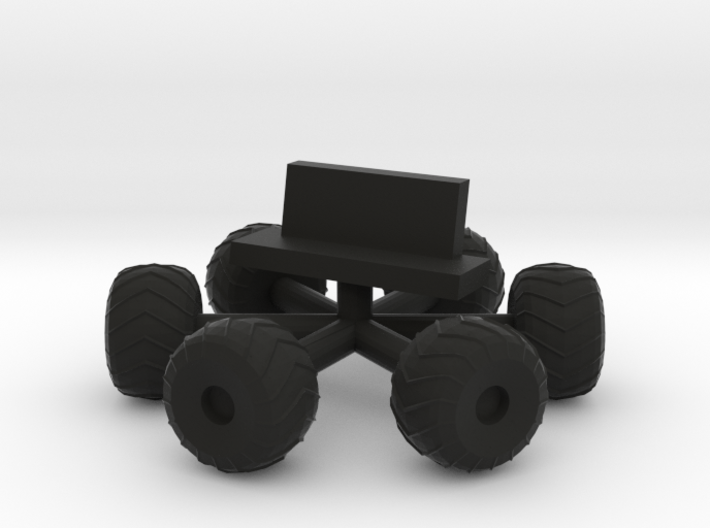 Space 1999 Moonbuggy Wheels and Seats Dinky Scaled 3d printed