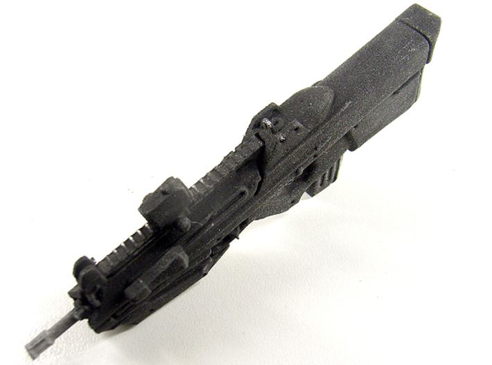 1:6 scale bullpup rifle 2 3d printed WSF painted black