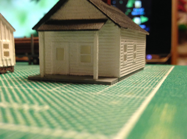 Lumber House 3d printed Z scale logging houses