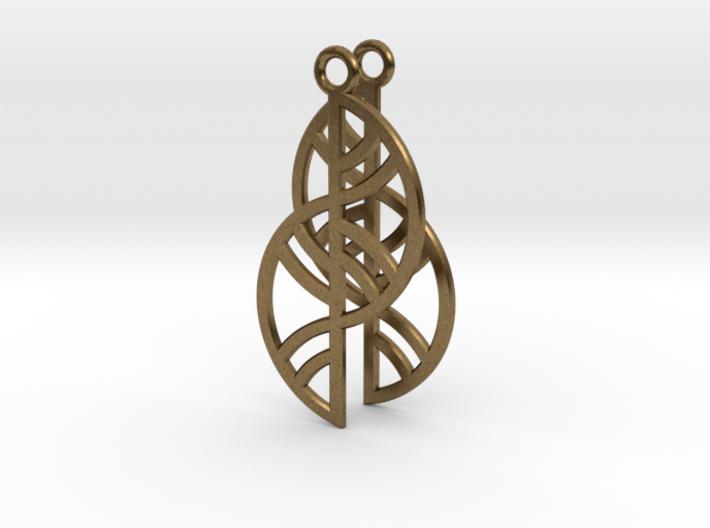 Geometric Earrings - 3D Printed in Metal 3d printed