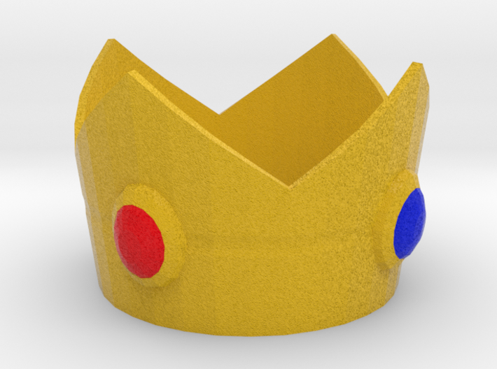 Princess Peach cosplay mini crown 3d printed
