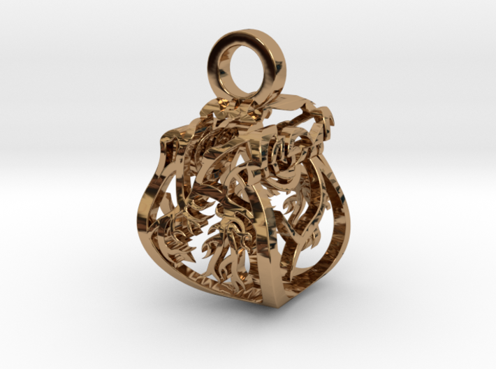 Heart of Roses Perspective Pendant 3d printed