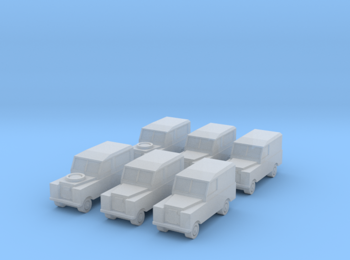 1/450 Land Rover Series 2a, Set of 6, for T gauge 3d printed